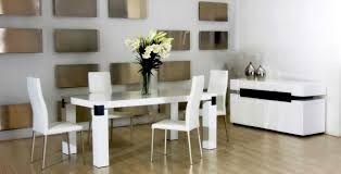 Modern Kitchen Table Sets by 7pc Modern High Gloss White Counter Height Dining Table Set Modern