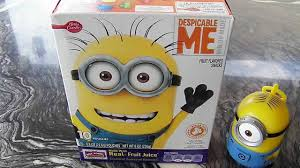 Betty Crocker Halloween Fruit Snacks Minions Despicable Me Fruit Snacks Taste Test With Minion Stuart