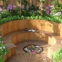 Raised Garden Bed With Bench Seating Moorcroft Jpg Backyard Pinterest Raised Beds Bench And