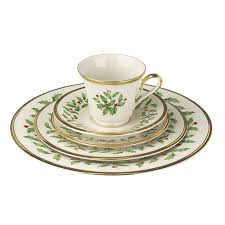 amazon com lenox holiday 5 piece place setting ivory dinnerware