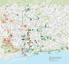 Barcelona Metro Map by Map Of Barcelona Tourist Attractions Sightseeing U0026 Tourist Tour