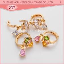 cc earrings fashion jewelry 2017 new design personality cc earrings zirconia