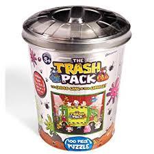 amazon trash pack garbage truck puzzle garbage tin