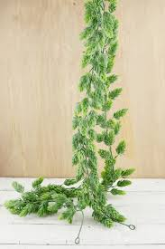 garland frosted green 6ft artificial