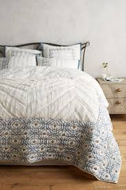 Anthropologie Bed Skirt Calvina Quilt Anthropologie