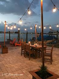 how to string cafe lights diy outdoor string lights on poles h20bungalow