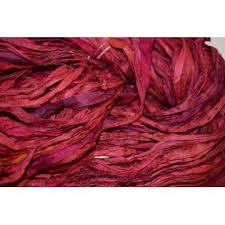 sari silk ribbon india 100 g recycled sari silk ribbon yarn lava for tassels or
