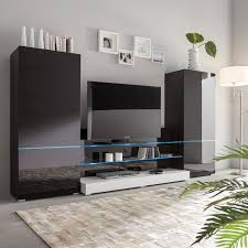 Wohnzimmerschrank Trend 2016 Wohnwand Schwarz Weiss Preisvergleich U2022 Die Besten Angebote Online