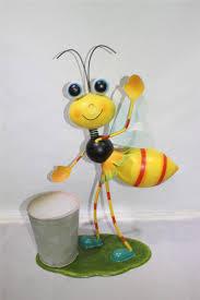 metal ornament bee flower pot flower planter garden ornament buy
