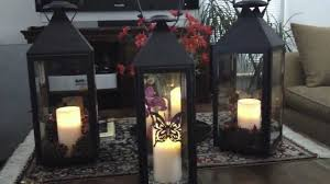 decorating ideas with lanterns candle lanterns also leafy on tray