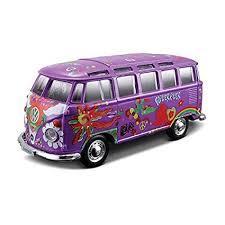volkswagen van hippie amazon com 1 25 hippie line volkswagen van samba toys games
