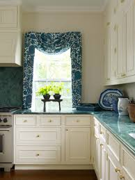 blue and white kitchen in a greek revival old house restoration