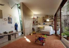 orange fur rug toddler playroom design ideas round blue and green