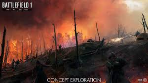 glimpse battlefield 1 u0027s first expansion in this fiery concept art