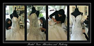 wedding dress captions gown alterations