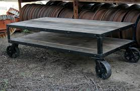 Rustic Coffee Table On Wheels Industrial Rustic Coffee Table Pk Home With Wheels Thippo