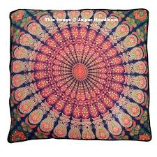 Pillow Ottoman 35 Square Mandala Tapestry Floor Pillows Indian Summer Cushion Covers