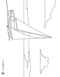 sloop sailing boat coloring pages hellokids com