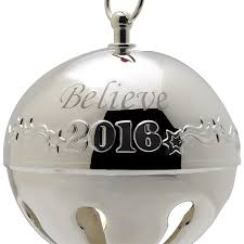2016 believe bell polar express bell silverplate ornament
