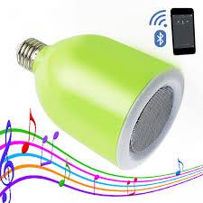 Bluetooth Light Bulb Speaker 300 Lumens Led Bulb With Bluetooth Speaker Green