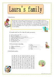 107 free esl family members worksheets