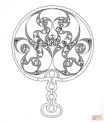 celtic ornament coloring page free printable coloring pages