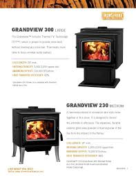 country brand wood stove insert brochure and photos for