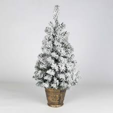 christmas tree with snow 60cm pre lit battery snow covered potted christmas tree with timer