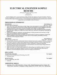 Custodial Engineer Resume Sample 28 Electrical Engineer Resume Sample Free Download Resume