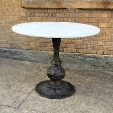 round cast iron table wonderful iron pedestal table metal cast bases restaurant caf 1930s