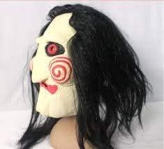 Saw Mask Halloween Costumes Movie Saw Mask Jigsaw Puppet Creepy Scary Mask
