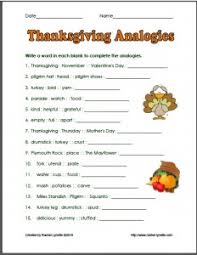 thanksgiving activities for thanksgivinganalogies projects