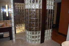 Glass Block Bathroom Designs Glass Block Shower Contemporary Bathroom Cleveland Inside Glass