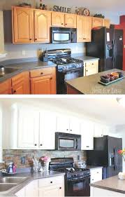 painting kitchen cabinets before and after kitchen cabinet before and after painting old kitchen cabinets
