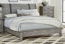 Grey Sleigh Bed Nelson Grey Sleigh Bed Set The Furniture Mart