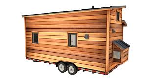 cider box tiny house plans padtinyhouses cider box tiny house foot long rendering with rustic exterior