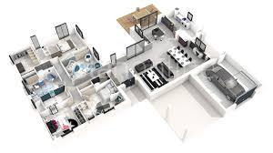 plan maison contemporaine plain pied 4 chambres plan maison plain pied 4 chambres 3d