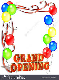 illustration of grand opening balloons border
