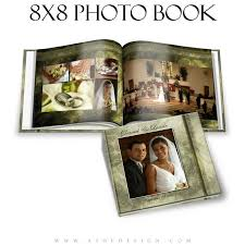 8x8 photo book wedding photo book 8x8 brushed grunge ashedesign