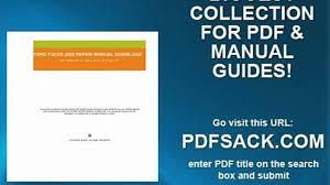 ford focus 2002 repair manual download video dailymotion