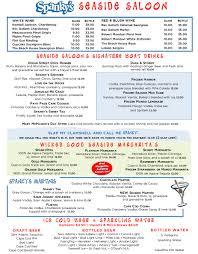 blue martini menu menu