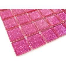 1 u0027 u0027 x 1 u0027 u0027 pink glass square tile glossy blgd507
