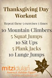thanksgiving day workout no equipment needed workout