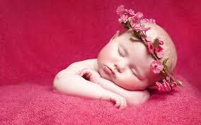 cute baby sleeping in dress wallpaper