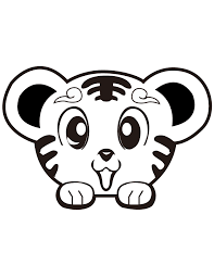 super cute tiger coloring u0026 coloring pages