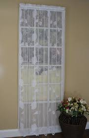 amazon com curtain chic seashells lace panel 63 inch white