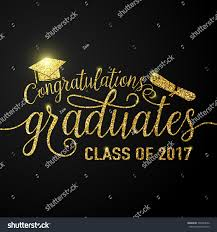 thanksgiving congratulations vector illustration on black graduations background stock vector