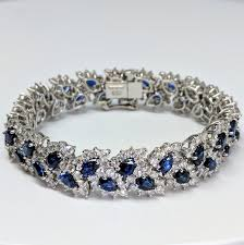 diamond bracelet with sapphire images Tiffany co sapphire and diamond bracelet von bargen 39 s jewelry jpeg
