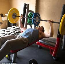 Sister Company Of Bench Richie Strahan Benches Two 15kg Weights Daily Mail Online