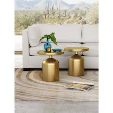 Brass Accent Table Zuo Kendal Brass Accent Table 405000 The Home Depot